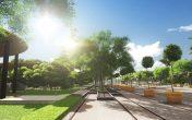 Phố chợ Đô Nghĩa nằm trong Khu đô thị sinh thái Dương Nội ngập tràn sắc xanh