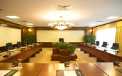 Phòng họp được trang bị đầy đủ trang thiết bị hiện đại
