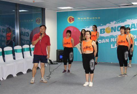 Ông Đào Tiến Dũng – Chánh văn phòng HĐQT phát biểu, khích lệ tinh thần các vận động viên