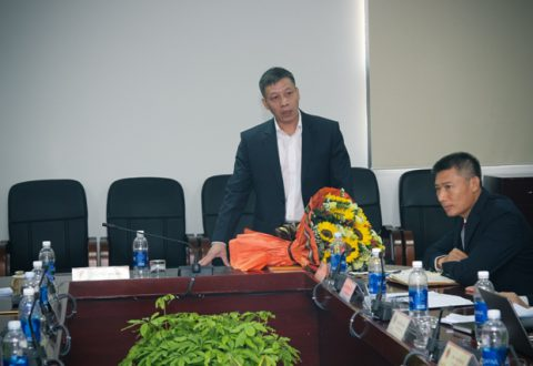 Ông Nguyễn Đình Dũng – Tân Phó Tổng Giám đốc phụ trách Đầu tư phát biểu sau khi nhận quyết định bổ nhiệm